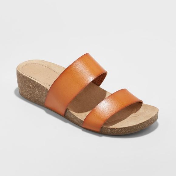 c82fd5aa36bf Universal Thread Kerryl Wedge Footbed Slide Sandal.  M 5b61fda36197451e63a4a11a